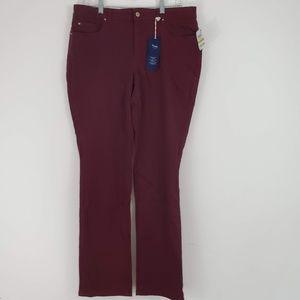 Charter Club Lexington Straight Leg Claret Jeans